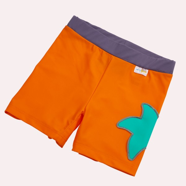Badehose Orange Econyl